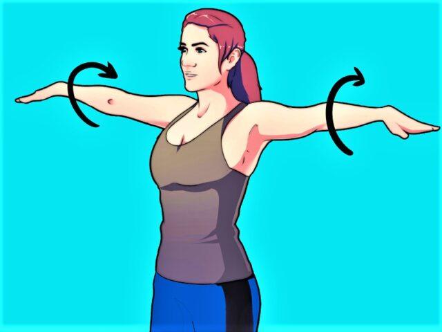 Благодарение на ежедневните кръгови движения на ръцете тялото ще получи много полезни ефекти